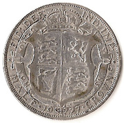 ½ Crown - George V (3rd type; Modified Effigy) -  reverse