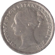 3 Pence - Victoria (1st portrait; incl. Maundy and Colonial) -  obverse