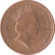 1 Penny - Elizabeth II (3rd portrait; magnetic) -  obverse