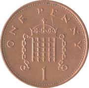 1 Penny - Elizabeth II (3rd portrait; magnetic) -  reverse