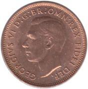1 Farthing - George VI (without 'IND:IMP') – obverse