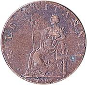 ½ Penny (Anglesey - Druid / Britannia) – reverse