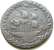 ½ Penny (Lancashire - Liverpool / Earl Howe) – reverse