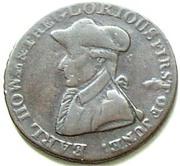 ½ Penny (Lancashire - Liverpool / Earl Howe) – obverse