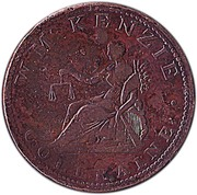 1 Penny (Coleraine - W. McKenzie) – obverse
