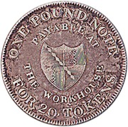 1 Shilling (Warwickshire - Birmingham / Workhouse) – reverse