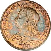 ½ Penny - Victoria (3rd portrait) – obverse