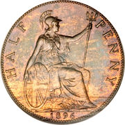 ½ Penny - Victoria (3rd portrait) – reverse