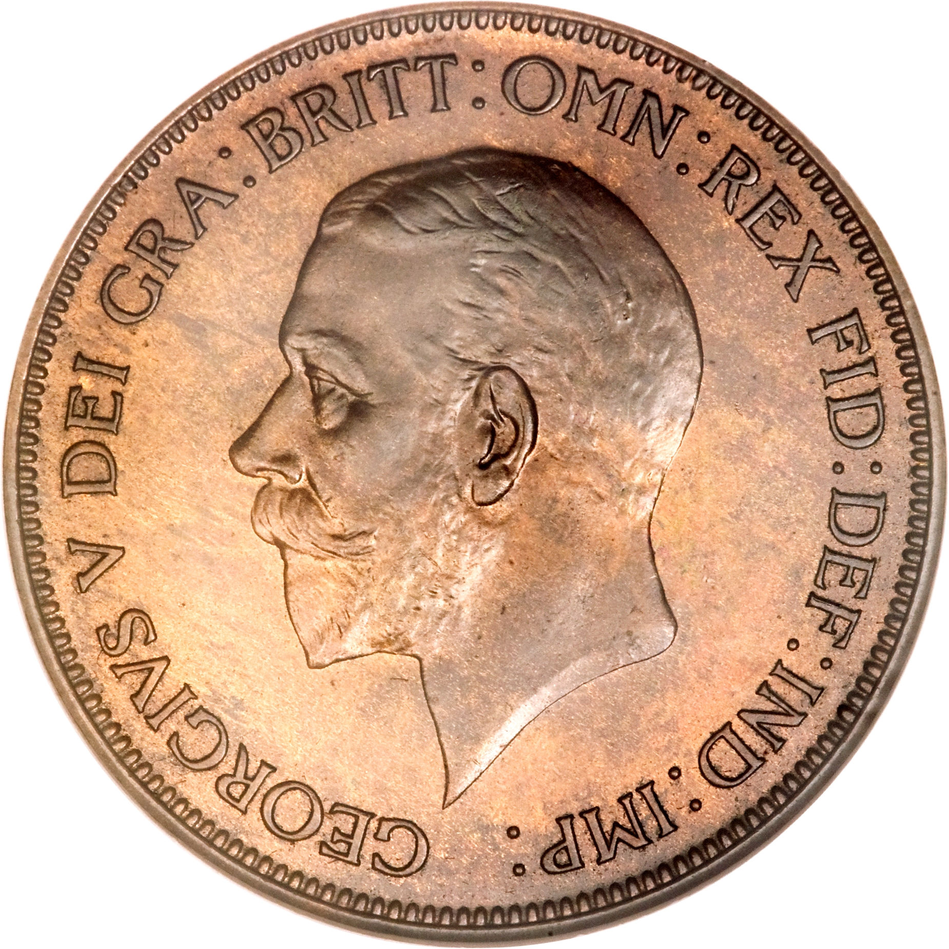 1 penny george v smaller portrait united kingdom for One penny homes