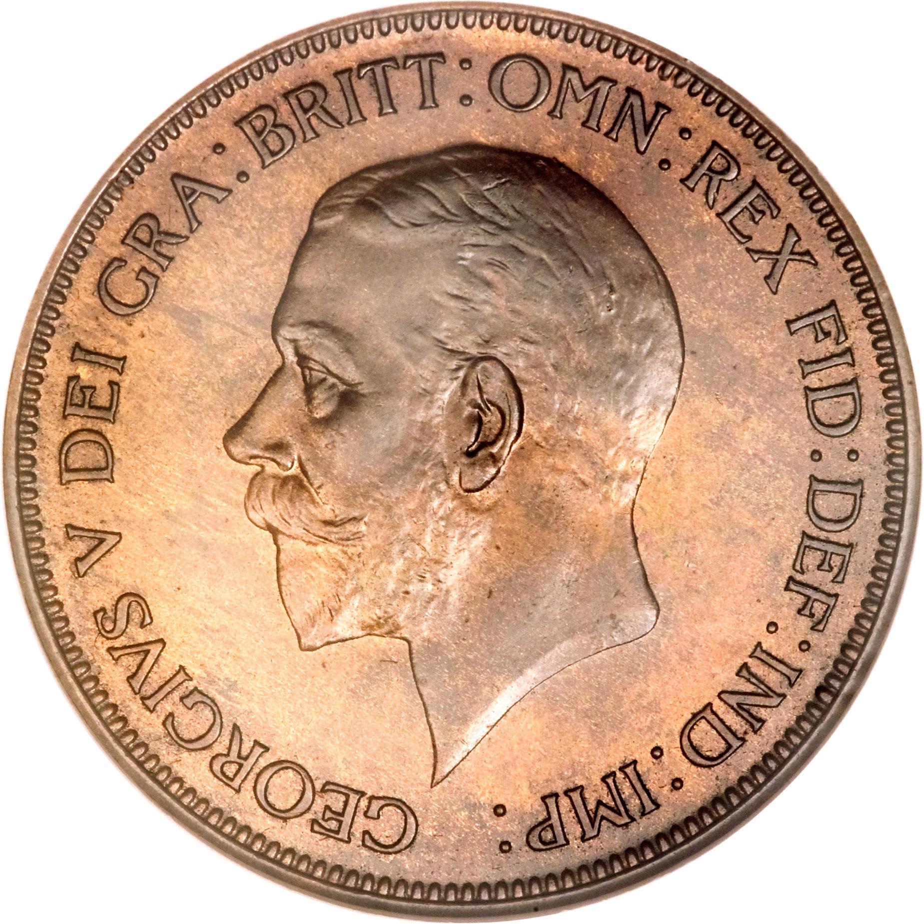 1 penny george v 2e effigie petite t te royaume uni numista. Black Bedroom Furniture Sets. Home Design Ideas