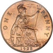 1 Penny - George V (smaller portrait) -  reverse