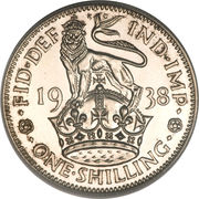 1 Shilling - George VI (English crest; with 'IND:IMP') -  reverse