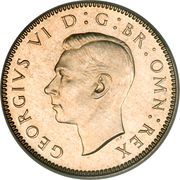 6 Pence - George VI (2nd coinage; with 'IND:IMP') -  obverse