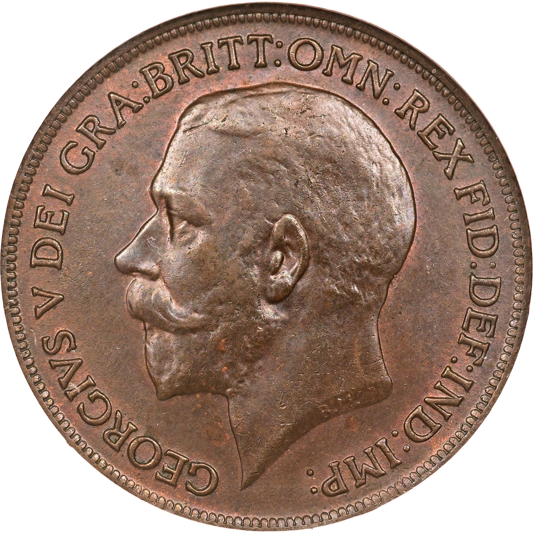 1 penny george v united kingdom numista for One penny homes