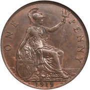 1 Penny - George V -  reverse