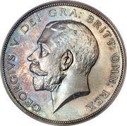 ½ Crown - George V (1st type) -  obverse