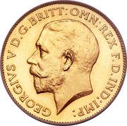 ½ Sovereign - George V -  obverse