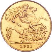 ½ Sovereign - George V -  reverse