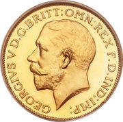 1 Sovereign - George V -  obverse