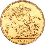 1 Sovereign - George V -  reverse