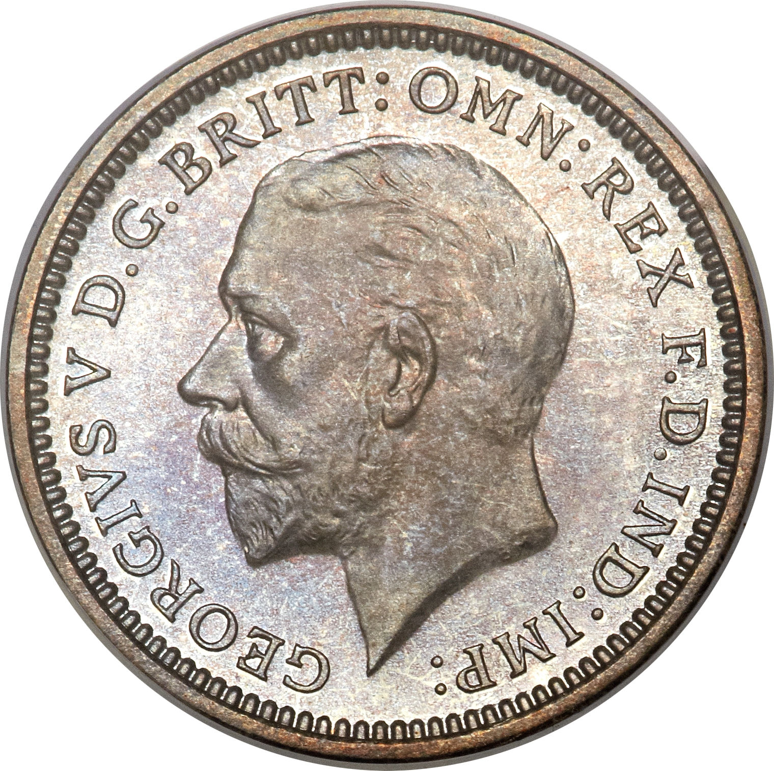 Great Britain 3 Pence silver coin 1936 km#831 George V a3