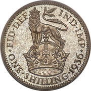 1 Shilling - George V (4th type) -  reverse