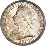 1 Crown - Victoria (3rd portrait) -  obverse