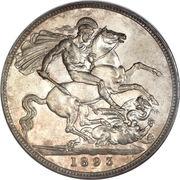 1 Crown - Victoria (3rd portrait) -  reverse