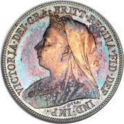 1 Shilling - Victoria (3rd portrait; 'Old Head') -  obverse