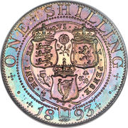 1 Shilling - Victoria (3rd portrait; 'Old Head') -  reverse