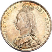 ½ Crown - Victoria (2nd portrait) -  obverse