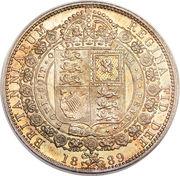 ½ Crown - Victoria (2nd portrait) -  reverse