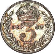 3 Pence - Edward VII (incl. Maundy) -  reverse