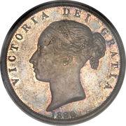 ½ Crown - Victoria (1st portrait; 2nd type) -  obverse