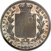 ½ Crown - Victoria (1st portrait; 2nd type) -  reverse