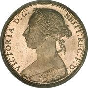 1 Penny - Victoria (2nd portrait) -  obverse