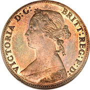 ½ Penny - Victoria (2nd portrait) -  obverse