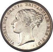 6 Pence - Victoria (1st portrait; 2nd type) -  obverse