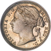 ⅓ Farthing - Victoria (2nd portrait; Colonial issues) – obverse