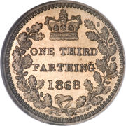 ⅓ Farthing - Victoria (2nd portrait) – reverse