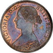 1 Farthing - Victoria (2nd portrait; 1st type) – obverse
