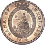 1 Dollar - George III (Bank of England Token) – reverse