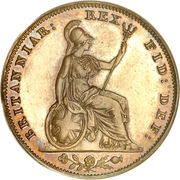 1 Farthing - William IV -  reverse