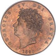 ½ Penny - George IV – obverse