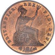 ½ Penny - George IV – reverse