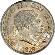 ½ Crown - George III (2nd portrait) -  obverse
