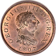 ½ Penny - George III (4th issue) – obverse