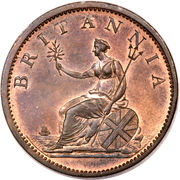 ½ Penny - George III (4th issue) – reverse