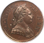 ½ Penny - George III (1st issue) – obverse