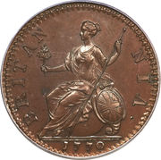 ½ Penny - George III (1st issue) – reverse